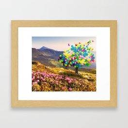 When Balloon Bloom Framed Art Print