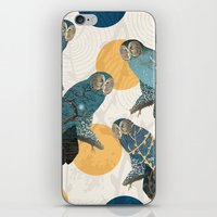 mandie manzano iPhone & iPod Skins featuring Night Owl Polka by Paula Belle Flores