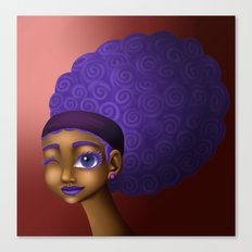 Violet Spirals Canvas Print
