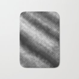 Black and White Hatched Ombre Bath Mat