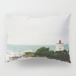 Film photo of the lighthouse at Bluff, NZ Pillow Sham
