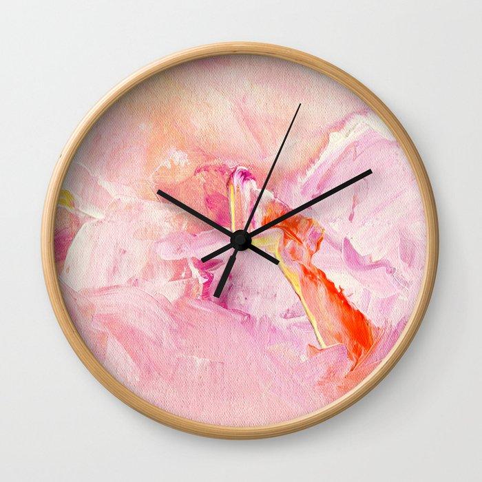 Pink Acrylic Abstract Art Wall Clock