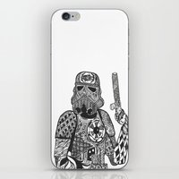storm trooper iPhone & iPod Skins featuring Storm Trooper  by ATELOPHILIA DESIGNS