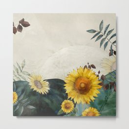 sunflowers garden country dreams Metal Print