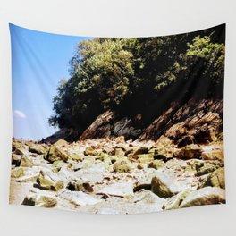Rocky Beach Coastline Wall Tapestry