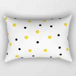 Seamless Black Yellow Dots Pattern Rectangular Pillow