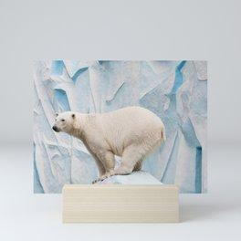 Polar bear in a zoo Mini Art Print