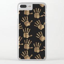 Abstract Golden hands Open Hands Open heart Clear iPhone Case