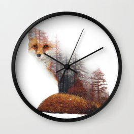 Misty Fox Wall Clock