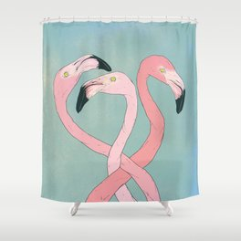 Flamingo Flamingo Flamingo Shower Curtain