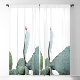 Mint Green Cactus Blackout Curtain