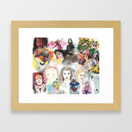 my watercolor collage Framed Art Print