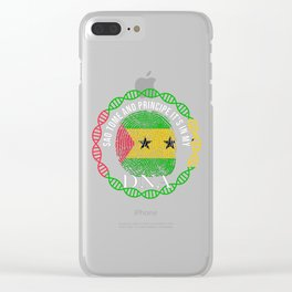 Sao Tome And Principe Its In My DNA Clear iPhone Case