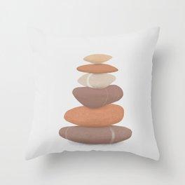 rock pile: minimalist balancing stones Throw Pillow