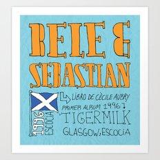 Collage Series III: Belle & Sebastian Art Print