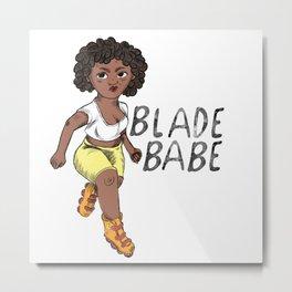 Blade Babe Metal Print
