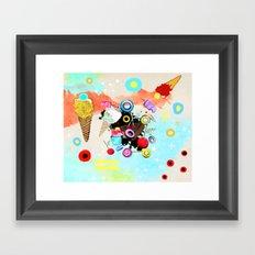 La vida es dulce y maravillosa Framed Art Print