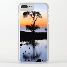Cleveland Point Sunset Clear iPhone Case