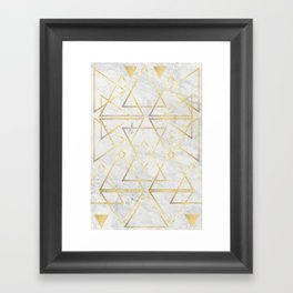 wire gOld triangle Framed Art Print