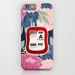 Floral A Positive iPhone Case