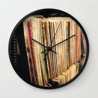 vinyl Wall Clocks featuring Vinyl by strentse