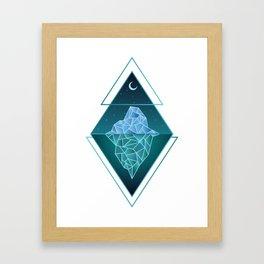 Iceberg Geometric Framed Art Print