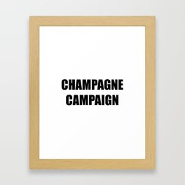 Champagne Campaign Mmm Bubbles Framed Art Print