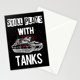 funny tank driver t-shirt for tank fans Stationery Cards