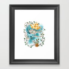 Underwater tales - the boat Framed Art Print