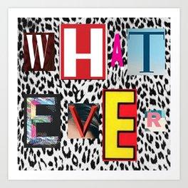 cheetah whatever Art Print