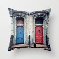 doors Throw Pillows featuring The Doors by unaciertamirada