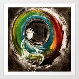 Rainbow at the End of the Tunnel Art Print