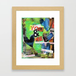 You & Me Framed Art Print