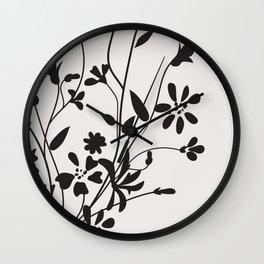 Dancing Floral Wall Clock