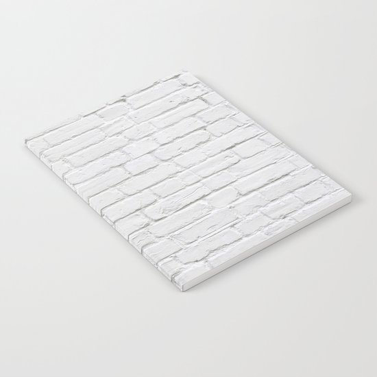 White Brick Wall Notebook