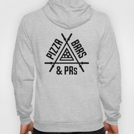 Pizza, Bars and PRs Fitness Triangle v2 Hoody