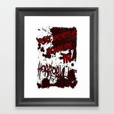 HorrorVille 13 B-movie flyer. Framed Art Print