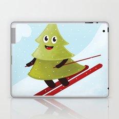 Happy Pine Tree on Ski Laptop & iPad Skin