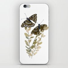 Two Brown Butterflies iPhone & iPod Skin