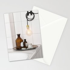 White Tiles  Stationery Cards