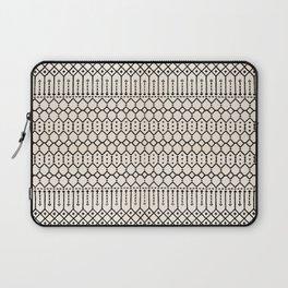 N79 - Farmhouse B&W Traditional Boho Moroccan Style Design. Laptop Sleeve
