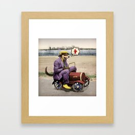 Barkin' Down the Highway! Framed Art Print