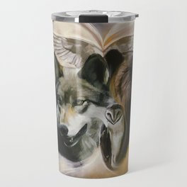 Wolf, Bear, Owl Spirit Animals Travel Mug
