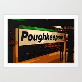 Poughkeepsie  Art Print