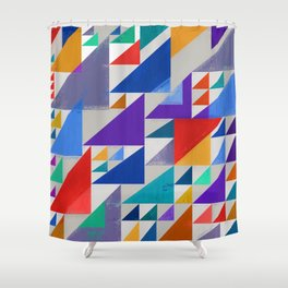Abstract Composition 393 Shower Curtain