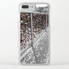 Love Locked Clear iPhone Case