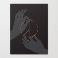 Buddha and peace Canvas Print