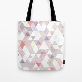 Modern abstract geometrical pastel tones watercolor Tote Bag