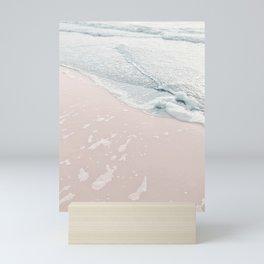 Summer sunset ocean love pink blue pastel Mini Art Print