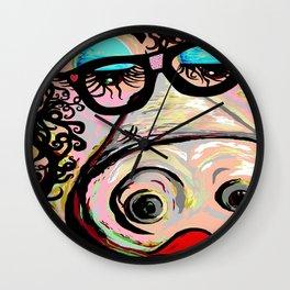 Hipster Pig Wall Clock